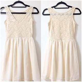 Sexy Lace Chiffon Peach Dress Size XS