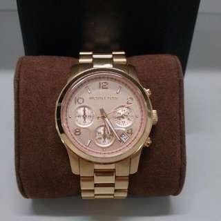 Michael Kors 簡約時尚躍動三眼計時腕錶MK5128 玫瑰金(正品)(保留)