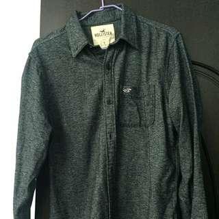 Hollister 長袖 S號 襯衫 灰色 全新 美國帶回