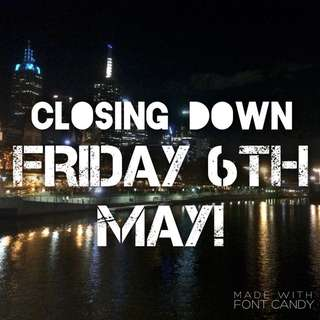 Last Order Date FRIDAY 6th MAY!