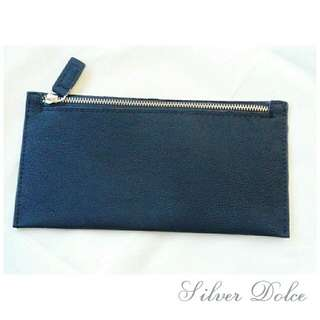 New Women Black Leather Texture Long Wallet Phone Cash Coins Cards