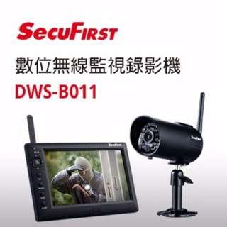 下標加碼送32G加免運  SecuFirst DWS-B011 無線監視/防盜錄影 區域警報 7吋螢幕 無線監視錄影機