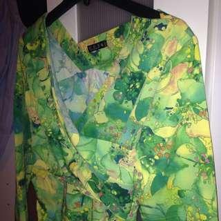 AU14 Long Sleeve Midi Dress