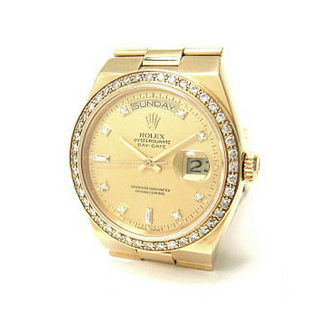Image result for Yellow gold and diamond Rolex Oysterquartz Day-Date