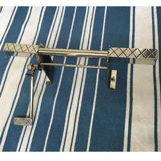 Solid Foot Rest with brake pedal (Stainless Steel) (Reserved)