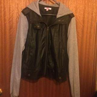 Half Leather And Cotton Jacket