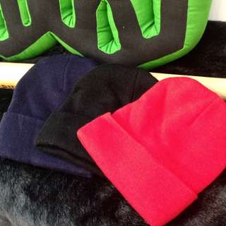 淨色冷帽 黑藍紅