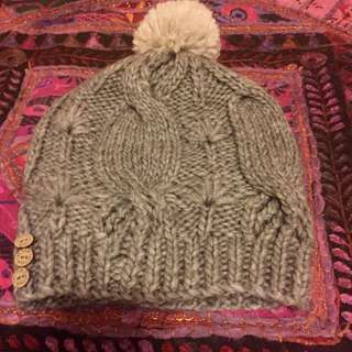 Grey Beanie By Fat Face