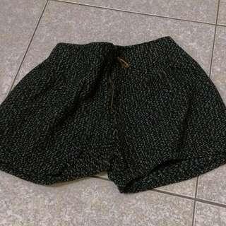 【二手/免運】冬季混色毛呢拉鍊款短褲