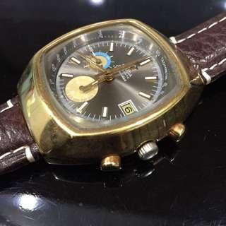 Omega Seamaster 176.005 Gold Plated Chronograph