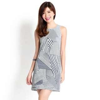 Lilypriates Dress In Geometric Prints (Size S)