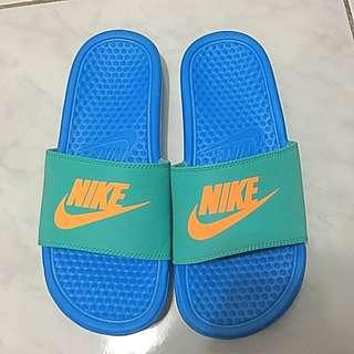 [含運] Nike湖水綠配色拖鞋