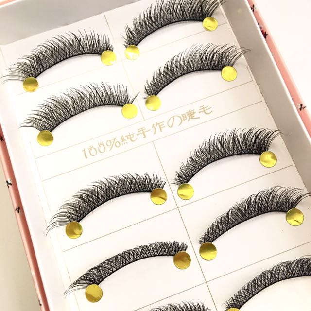 5 Pairs Long n Natural Handmade False Eyelashes/falsies