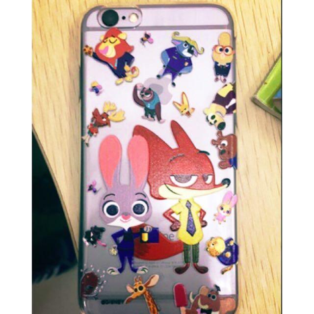 香港迪士尼代購 動物方城市 zootopia 浮雕 手機殼 iPhone 硬殼 正版