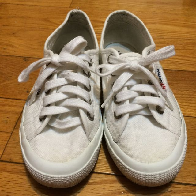 二手 Superga小白鞋 帆布鞋