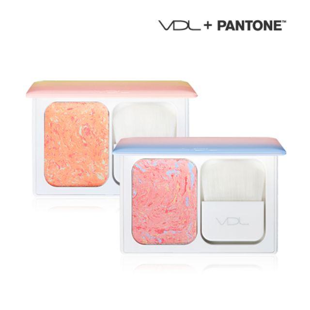 代買 VDL專業單色頰彩盤/腮紅盤#01玫瑰石英粉X寧靜藍 2016PANTONE