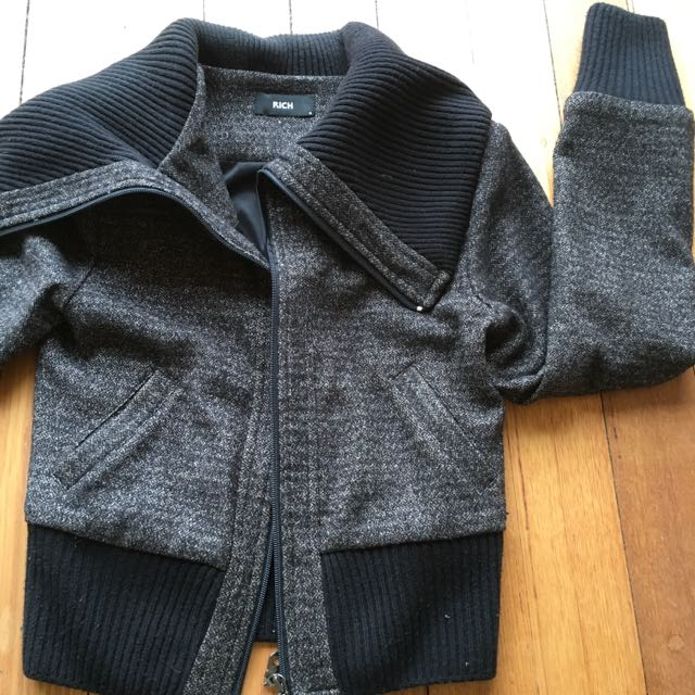 Label: Rich / Winter Wool Jacket