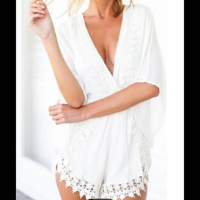 Elegant White Playsuit