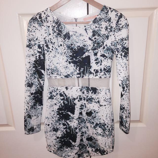 Nvy Splash Dress