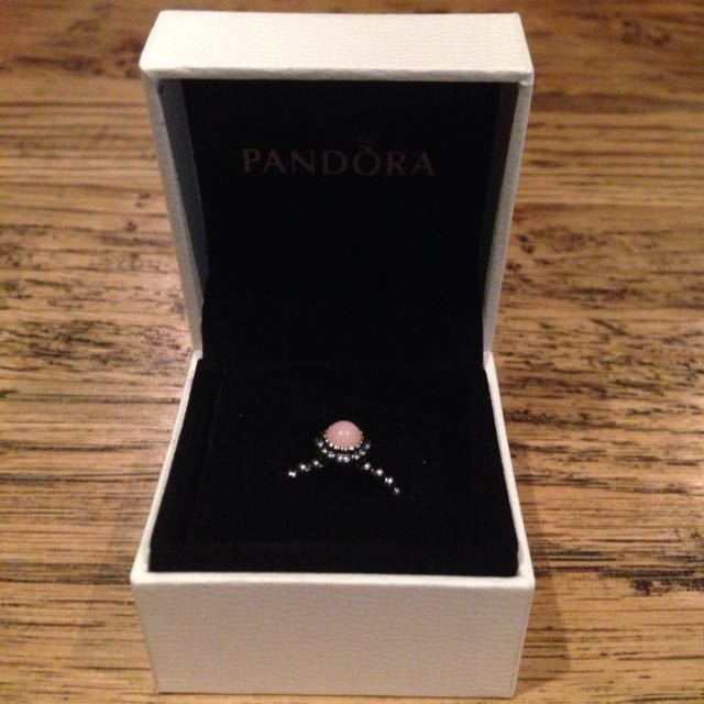 PANDORA Pink Opal Ring (October Birthstone)