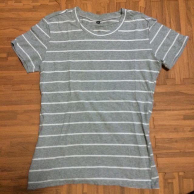 條紋短袖T