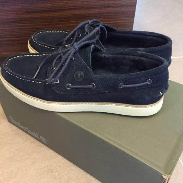 Timberlands 藍色 麂皮 帆船鞋 休閒鞋