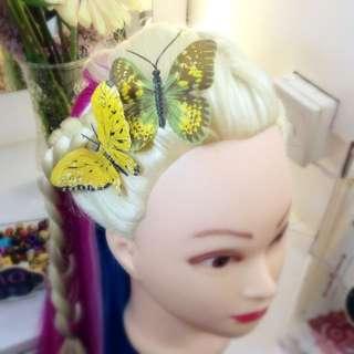 蝴蝶髪夾頭飾