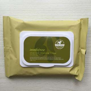 【免運】Innisfree 橄欖真萃卸妝濕紙巾