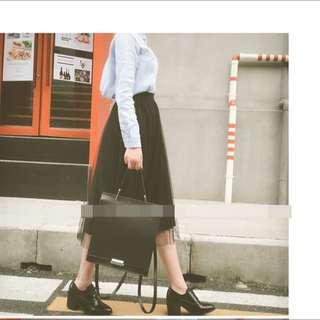 網紗 高腰 長 紗裙