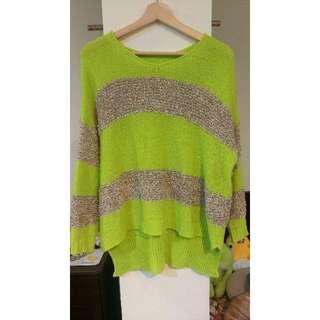 💌㊣韓繽紛綠針織上衣