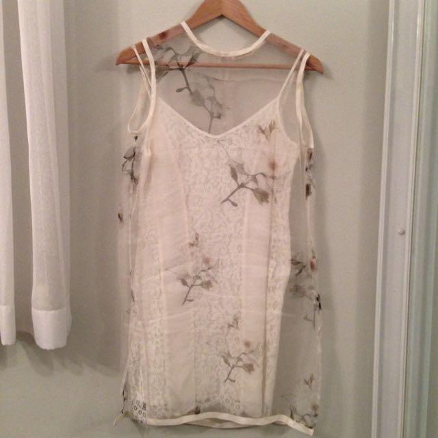 100% Silk Overlay Dress