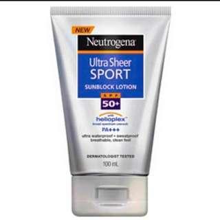 Neutrogena 露得清  運動型輕透防曬乳 SFP50+ PA+++