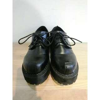 復古綁帶牛津厚底鞋(39號)