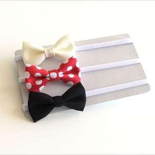 Minnie Inspired! 5.5cm Bows Headband Set