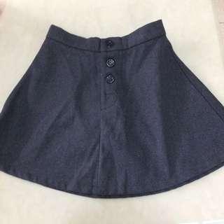 全新高腰三扣短裙