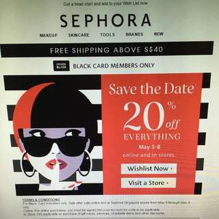 SEPHORA BLACK CARD SALES