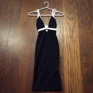 Nookie Black & White Bodycon Dress