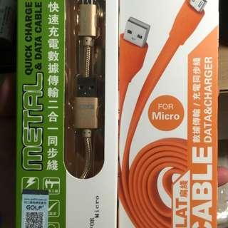 香港購入快速充電傳輸線(android