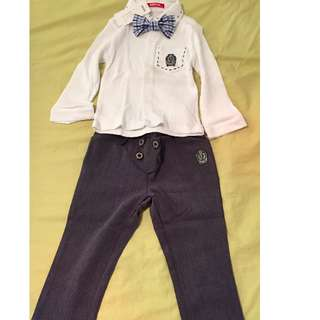 Boys long sleeve top + pant set