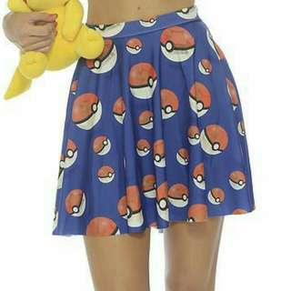 Pokemon Skirt With Pokemon In Pokeballs