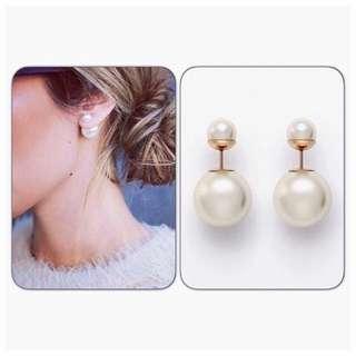雙珍珠耳環