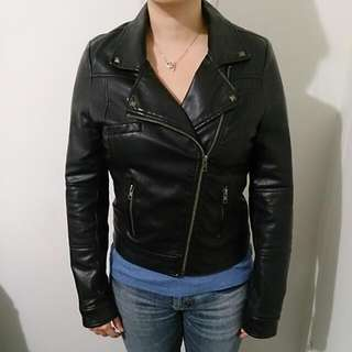 Black Faux Leather Valleygirl Jacket