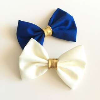 2 Bows With Hair Clips Or Headbands