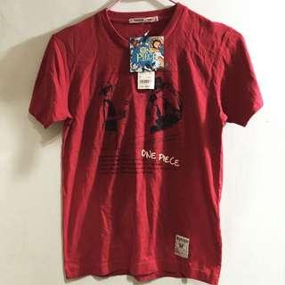日本uniqlo 海賊王One Piece 紅色s號t恤
