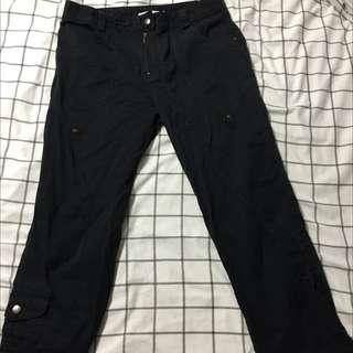 Lauren Vidal Black Cargo Pants