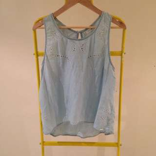 Rusty Chambray Top