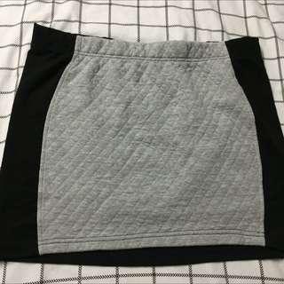 Factorie Black And White Tight Skirt