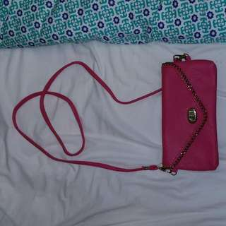 Cross Over Pink Handbag