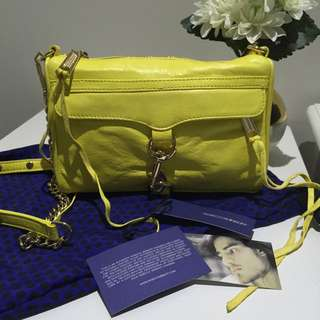 REBECCA MINKOFF Mini MAC Crossbody (CANARY)