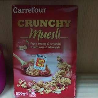 (即期品)家福紅莓杏仁早餐穀片